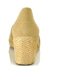 Andre Assous   Natural Canvas Espadrille Wedge   Lyst