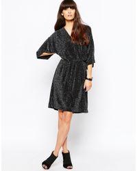Just Female | Black Lux Kimono Dress | Lyst