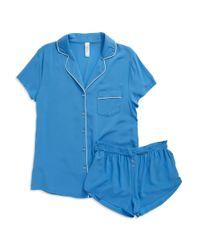 Splendid Blue Woven Pajama Set