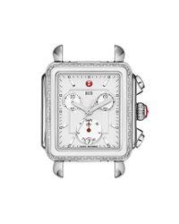 Michele - Metallic 'deco Diamond' Ceramic & Steel Watch Case - Lyst