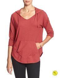 Banana Republic | Red Factory Draped Pullover Hoodie | Lyst