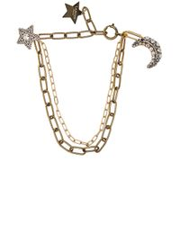 Lanvin | Metallic Star & Moon Short Necklace | Lyst