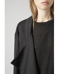 TOPSHOP Black Split-Seam Wool Duster Coat By Boutique