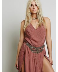 Free People - Gray Womens Newsha Metal Belt - Lyst