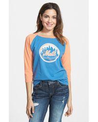 Red Jacket - Blue 'mets - Vintage' Baseball Tee - Lyst