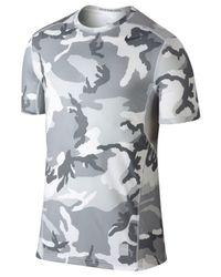 Nike Gray Hypercool Dri-fit Camo T-shirt for men