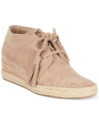 Michael Kors - Natural Michael Kendrick Lace-Up Wedge Sneakers - Lyst