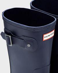 HUNTER | Blue Men's Original Two Tone Short Rain Boots for Men | Lyst
