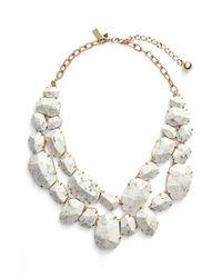 kate spade new york White 'quarry Gems' Bib Necklace