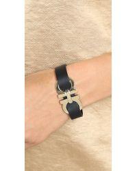 Ferragamo | Black Bracciali Gancio Bracelet - Nero | Lyst