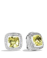 David Yurman | Metallic Albion Earrings With Lemon Citrine & Diamonds | Lyst