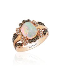 Le Vian | Pink Chocolatier Oval Neapolitan Opal, Chocolate And Vanilla Diamond Ring | Lyst
