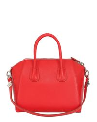 Givenchy | Red Small Antigona Grained Leather Bag | Lyst