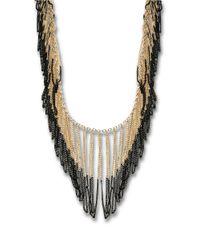 ABS By Allen Schwartz | Metallic Dip-dyed Fringe Necklace | Lyst