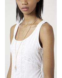 TOPSHOP - White Button Back Lace Maxi Dress - Lyst