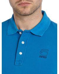 G-Star RAW | Blue Fero Slim Fit Polo Shirt for Men | Lyst