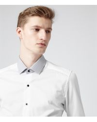 Reiss - White Brompton Contrast Collar Shirt for Men - Lyst