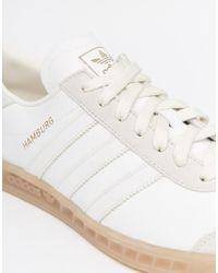 adidas Originals Leather Hamburg Trainers S74836 in White for Men ...