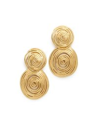 Gas Bijoux | Metallic Wave Earrings | Lyst