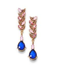 Erickson Beamon - Blue Swarvoski Crystal Cosmic Code Drop Earrings - Lyst