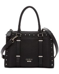 Guess | Black Basel Small Status Satchel | Lyst