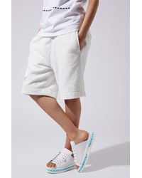 TOPSHOP Womens White Led Leather Sliders By Ashish X White