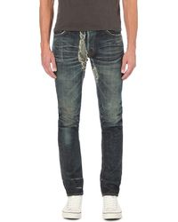 Mastercraft Union - Blue Faded-wash Slim-fit Tapered Jeans for Men - Lyst