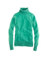 J.Crew Green Collection Cashmere Turtleneck Sweater