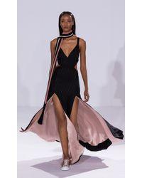 Temperley London Black Long Salerno Split Skirt