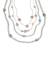 Lagos - Metallic Silver Rocks Long Necklace - Lyst