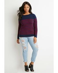 Forever 21 | Blue Classic Striped Sweater | Lyst