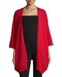 Neiman Marcus - Red Cashmere Kimono Shawl - Lyst