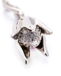 Eddie Borgo | Metallic Pavé Bud Drop Necklace | Lyst