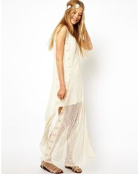 ASOS White Premium Embroidered Maxi Dress