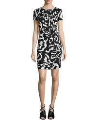 Diane von Furstenberg - Multicolor Zoe Floral-ikat Sheath Dress - Lyst