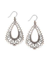 Lucky Brand - Metallic Openwork Oblong Earrings - Lyst