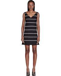 Marc Jacobs | Black Striped Pocket Shift Dress | Lyst