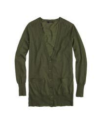J.Crew - Green Classic Merino Wool Long Cardigan Sweater - Lyst
