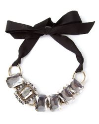 Lanvin | Black Collar Necklace | Lyst