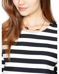 kate spade new york Black Kiss And Make Up Wink Necklace
