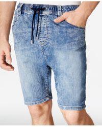 American Rag | Blue Men's Knit Denim Shorts for Men | Lyst