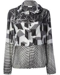 Pierre Louis Mascia Black Print Mix Bomber Jacket