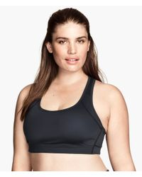 H&M - Black Sports Bra Medium Support - Lyst