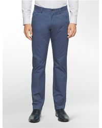 Calvin Klein | Blue White Label Slim Fit 4-pocket Sateen Pants for Men | Lyst
