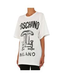 Moschino - White T-shirt - Lyst