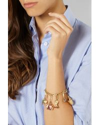 Aurelie Bidermann - Pink 18-Karat Rose Gold Multi-Stone Ladybug Charm - Lyst