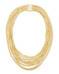 Marco Bicego - Metallic Cairo 18k Seventeen-strand Necklace - Lyst