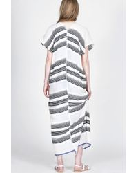 lemlem - Gray Nunu Striped-Cotton Maxi Dress  - Lyst