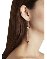 Eddie Borgo | Metallic Rose Gold Plated Earrings | Lyst