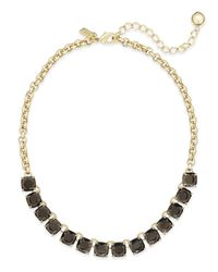 Kate Spade | Gold-tone Jet Black Stone Necklace | Lyst